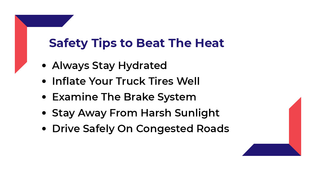 5 Summer safety tips Truck Drivers