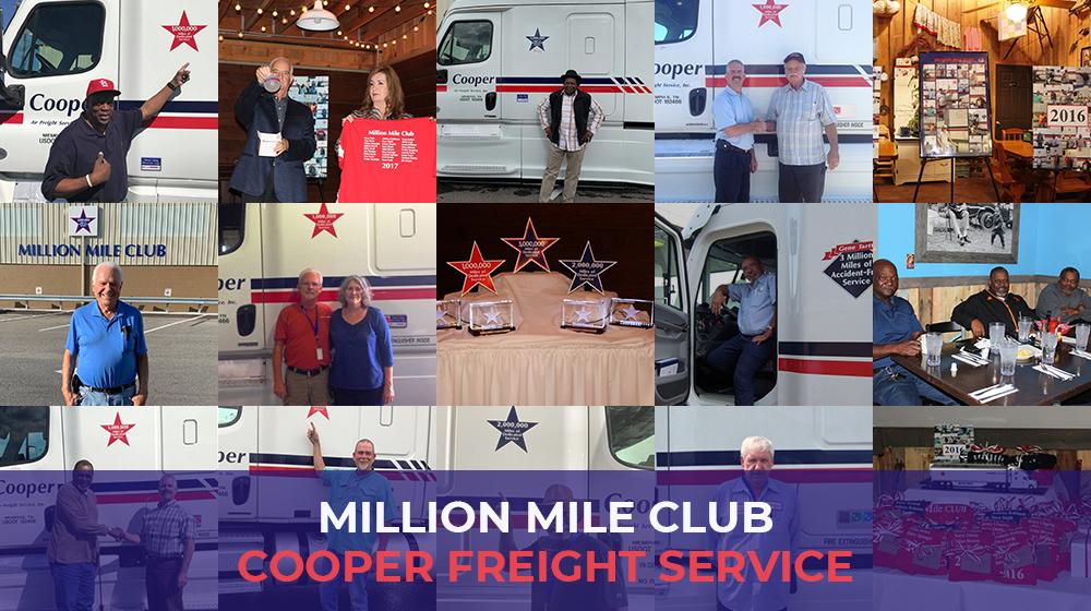 Million Mile club Cooper Freight